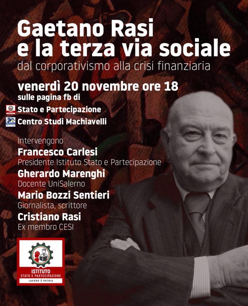 Webinar Gaetano Rasi e la terza via sociale   Istituto Stato e Partecipazione